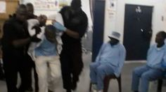 Footage from Mangaung Correctional Centre near Bloemfontein, South Africa, shows G4S prison workers apparently administering anti-psychotic drugs to a patient illegally. Another prisoner shows injuries he says were given by the prison's emergency security team. Allegations of torutre, including electrocuting inmates, have been denied by G4S