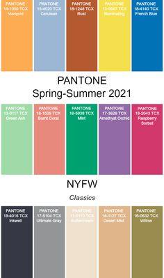 PANTONE Spring/Summer 2021 #fashion #pantone #color #trends #ss2021 Colour Pallete, Colour Schemes, Color Trends, Mode Inspiration, Color Inspiration, Paleta Pantone, E21, Color Combinations For Clothes, Summer Colors