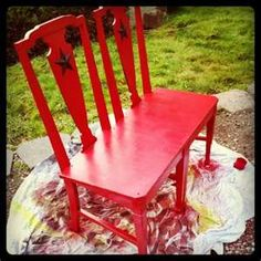 Repurpose old chairs and make a bench