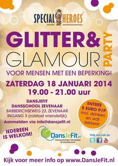 Zin in een feestje? Kom op zaterdag 18 januari 2014 naar #Zevenaar tijdens de Glitter & Glamour party van @DansJeFit. via twitter @UniekSporten.
