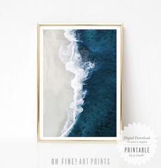 Beach Print Download Aerial Ocean Print Modern Coastal | Etsy...