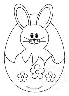 The best of Easter Bunny Template - ideas and pictures on Bing Easter Bunny Template, Easter Templates, Bunny Templates, Easter Printables, Easter Arts And Crafts, Easter Projects, Bunny Crafts, Free Easter Coloring Pages, Coloring Easter Eggs