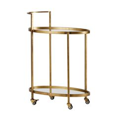 De Push trolley van BePureHome geeft uw interieur een luxe uitstraling! De trolley heeft een frame van metaal in de kleur antique brass met twee Decor, Furniture, Interior, Home, Side Table, Table, Glass Shelves, Glass Accent Tables, Living Decor