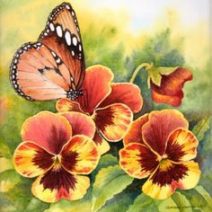 love butterflies and watercolor