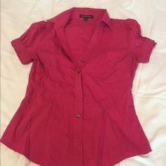 Cap Sleeve hot Pink shirt Barely worn hot pink cap sleeve shirt from Express. Express Tops