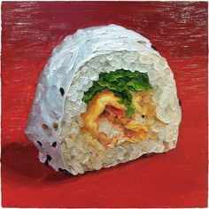 """Lobster roll  12x12"""" oil on wood     More info at © mikegeno.com"""