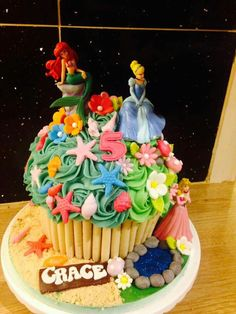 Disney Princess giant cupcake by cupcakes by Victoria Hartlepool