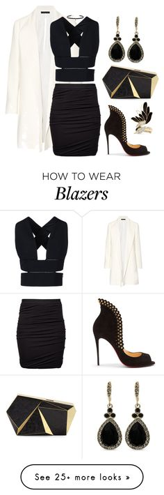 """Untitled #520"" by hallierosedale on Polyvore featuring The Row, STELLA McCARTNEY, Rafe, T By Alexander Wang, Givenchy, Carbon & Hyde, Lanvin and Christian Louboutin"