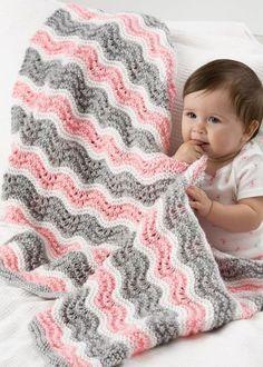 Rickrack Baby Ripple Blanket