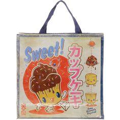 Blue Q Sweet Cupcake Cartoon Shopper ($16) ❤ liked on Polyvore