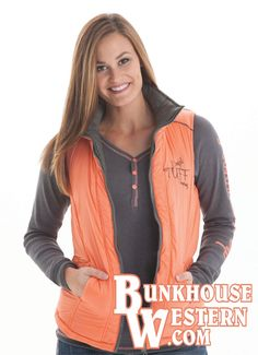 Cowgirl Tuff, Puffy Vest, Country Chic, Never Give Up, Winter Outfits, Addiction, Bomber Jacket, Coral, My Style