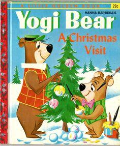 Yogi Bear A Christmas Visit - Little Golden Book 1961