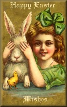 Happy Easter Wishes ~ Victorian Easter card