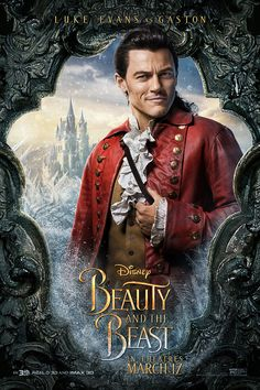 Disney release new motion and characters posters for its live-action Beauty and the Beast, ahead of the final trailer's release online. Luke Evans as Gaston Belle Disney, Walt Disney, Disney Films, Disney Love, Disney Magic, Disney Stuff, Dan Stevens, Beauty And The Beast Movie, Beauty Beast