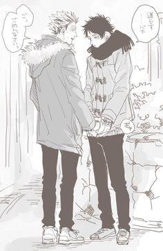 BokuAka | Bokuto x Akaashi | ささかまさんちの木兎さんが駆けつけてくれたので描きましたぼくあか