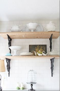 kitchen Rustic shelves