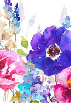 Leading Illustration & Publishing Agency based in London, New York & Marbella. Watercolor Cards, Watercolour Painting, Watercolor Flowers, Painting & Drawing, Watercolors, Cute Wallpapers, Wallpaper Backgrounds, Iphone Wallpaper, Design Floral