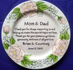 Wedding Mother of the Bride Gift Personalized by BrushStrokePlates
