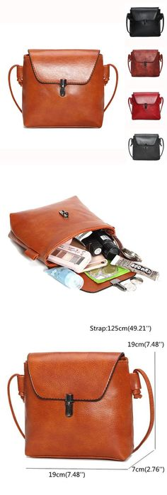 Women Vintage Crossbody Bag Casual Phone Bag PU Leather Shoulder Bag is designer, see other cute bags on NewChic. Purses And Handbags, Leather Handbags, Cute Bags, Casual Bags, Michael Kors Bag, Pu Leather, Leather Shoes, Fashion Bags, Me Too Shoes