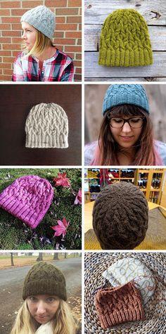 A rainbow of Seathwaite hats (free pattern)