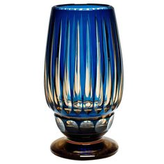 Blue Over Topaz Val St. Lambert Vase | From a unique collection of antique and modern vases at https://www.1stdibs.com/furniture/more-furniture-collectibles/vases/ Blue Over Topaz Val St. Lambert Vase  Offered By Mallett New York  $4,845