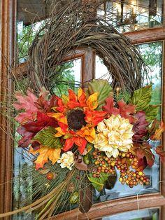 Floral Design, Wreaths, Fall, Home Decor, Autumn, Decoration Home, Door Wreaths, Fall Season, Room Decor
