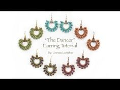 """How to Circular Brick Stitch from Beadshop.com: """"The Dancer"""" Earrings - YouTube"""