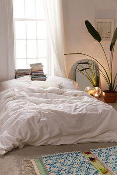 Slide View: 3: Linen Blend Duvet Cover