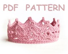 Crochet Baby Crown Pattern  tiara  Easy level von SashaPattern, $3.49