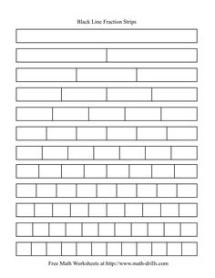 Get printable fraction strips free for your children to learn facts of fractions. Most of the children face difficulty in learning the concept of fractions 3rd Grade Fractions, Teaching Fractions, Fractions Worksheets, Free Math Worksheets, Fifth Grade Math, Math Fractions, Multiplication, Teaching Math, Comparing Fractions