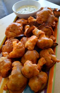 "Baked Buffalo Cauliflower ""Wings""by katerecipebox #Cauliflower_Wings #Healthy"