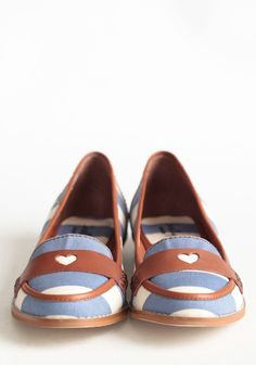 Beatnik Baby Striped Loafers By Shelly's | via Shop Ruche
