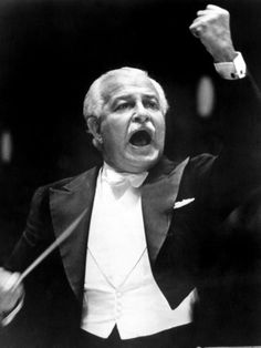 Conductor Arthur Fiedler (1894 - 1979). Colorful and very popular conductor of the Boston Pops Orchestra, a symphony orchestra that specializes in popular and light classical music.