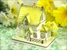 Miniature Porcelain Cottage House The Master's by HappyGalsVintage