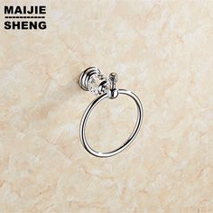 Bathroom crystal Towel Ring chrome Finished crystal Bathroom towel bar Accessories Products ,Towel Holder,Towel bar