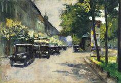 Lesser Ury, Unter den Linden, um 1925