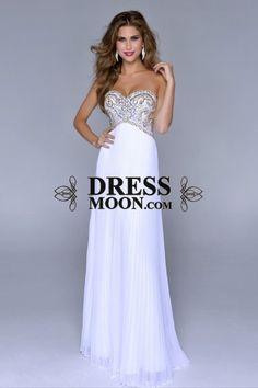 I like this - Sweetheart Full Beaded Bodice Floor Length Pick Up Shirred Chiffon Skirt White Prom Dress. Do you think I should buy it?