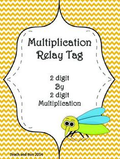 This math activity will have your students begging to play again!Students will work in teams to race against others to be the first to complete 2 digit by 2 digit multiplication problems correctly. There are 6 different rounds to give you ample time to use this activity as a review, a warm up, or an assessment.