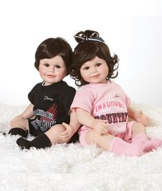 Baby Donny & Marie dolls designed by Marie Osmonds company Charisma LLC.