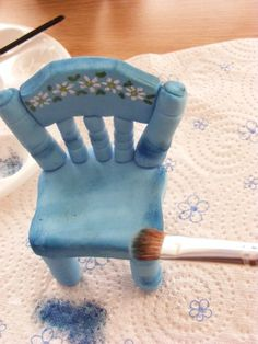 Gumpaste chair tutorial