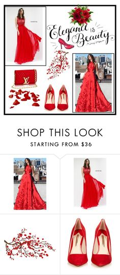 """""""homecomingqueendress3"""" by imsirovic-813 ❤ liked on Polyvore featuring Sherri Hill, Brewster Home Fashions, Sophia Webster and homecomingqueendress"""