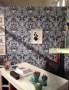 Madeline Weinrib Watercolor artwork on display at Housing Works Design On A Dime event. Textile Patterns, Textile Design, Pandora Radio, Housing Works, Watercolor Artwork, Homework, Tapestry, Spaces, Display