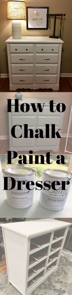 Learn how to chalk paint a dresser! It makes any furniture project quick and easy!