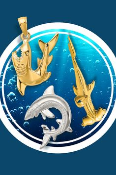 Are you enjoying Shark Week? Have some nautical fun all year long with these shark-inspired pendants. #QualityGold #pendants #SharkPendants #SharkWeek Body Jewelry, Unique Jewelry, Hammerhead Shark, Shark Week, Gold Polish, Silver Diamonds, Jewelry Trends, Primary Colors, Diamond Cuts