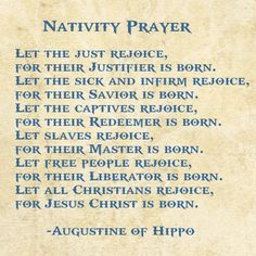 Nativity Prayer, St. Augustine of Hippo