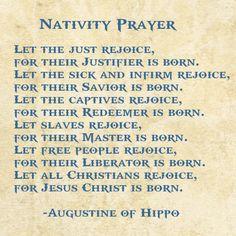 Nativity Prayer, St. Augustine of Hippo