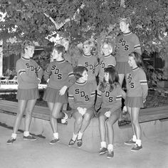 SDSU Cheer squad from 1968