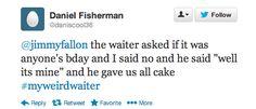 The Tonight Show with Jimmy Fallon. #TheTonightShow #JimmyFallon #HashTags #MyWeirdWaiter #FallonTonight