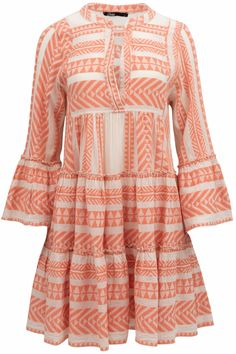 Devotion Damen Minikleid Ella Orange | SAILERstyle Bell Sleeves, Bell Sleeve Top, Mini, Off White, Beautiful Dresses, Orange, Salmon, Elegant, Exploring