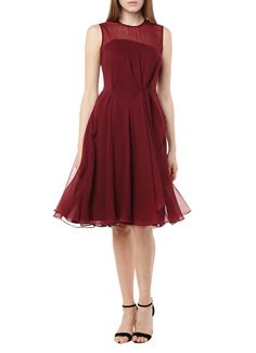 French Connection Winter Ray chiffon jurk met plooien • de Bijenkorf